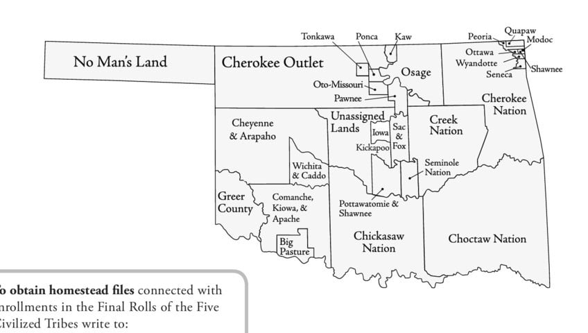 Map of Oklahoma Tribal Lands